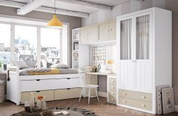 armario ropero con cajones y ventanas