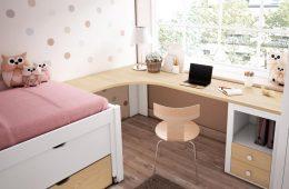 escritorio esquinero madera