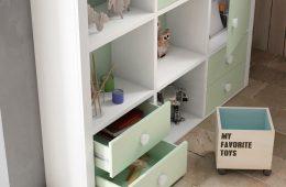 estanteria con cajones juvenil