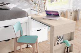 escritorio madera plegable juvenil