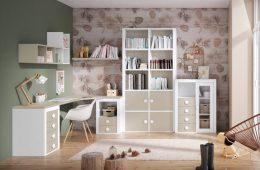 escritorio esquinero juvenil beige