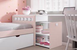 mueble infantil con cajón desplegable niña