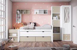 Dormitorio juvenil de pared