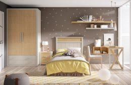 Dormitorio juvenil en tonos tierra