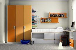 Dormitorio juvenil con armario 3 puertas