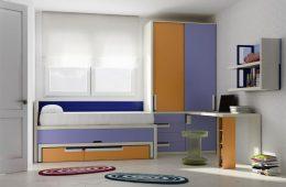 Dormitorio juvenil con armario esquinero