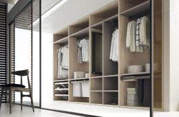vestidor abierto estilo nórdico