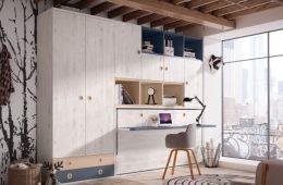 cama abatibles horizontal con escritorio abatible