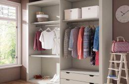 armario para dormitorio sin puertas