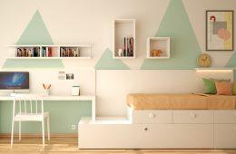 escritorio con cama nido y estantes Baza