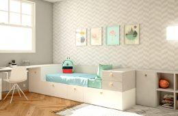 escritorio con cama nido y mueble Loja