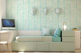 escritorio con cama nido y mueble Málaga
