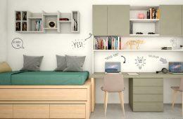 escritorio con cama nido y estanterias Sevilla