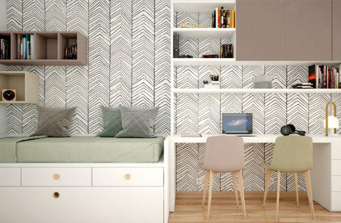 escritorio con cama nido y estanterias Granada