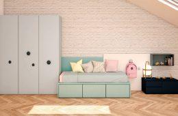 Dormitorio infantil en diversos colores