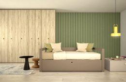 dormitorio juvenil tono tierra
