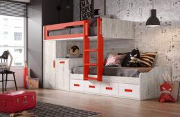 Dormitorios infantiles con camas tren, ideas para habitaciones compartidas