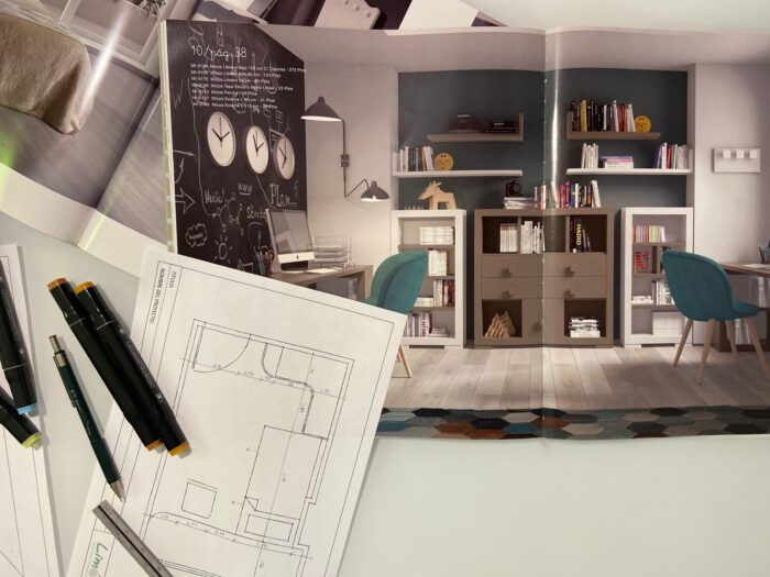 Escritorios zona estudio dormitorio juvenil compartido